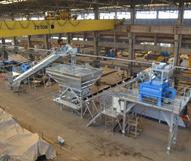 Guinea: GCP 100 CT Compact Concrete Mixing Plant has been delivered
